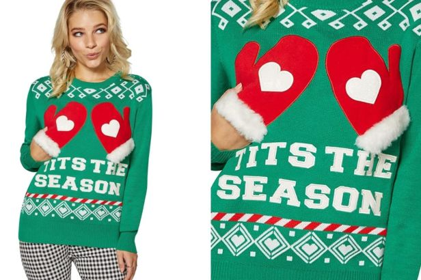 'Tits The Season' For This Christmas Sweater