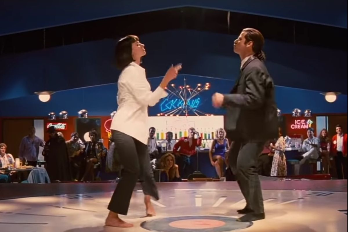 "Quentin Tarantino Caught Dancing During Iconic ""Pulp Fiction"" Dance Scene"