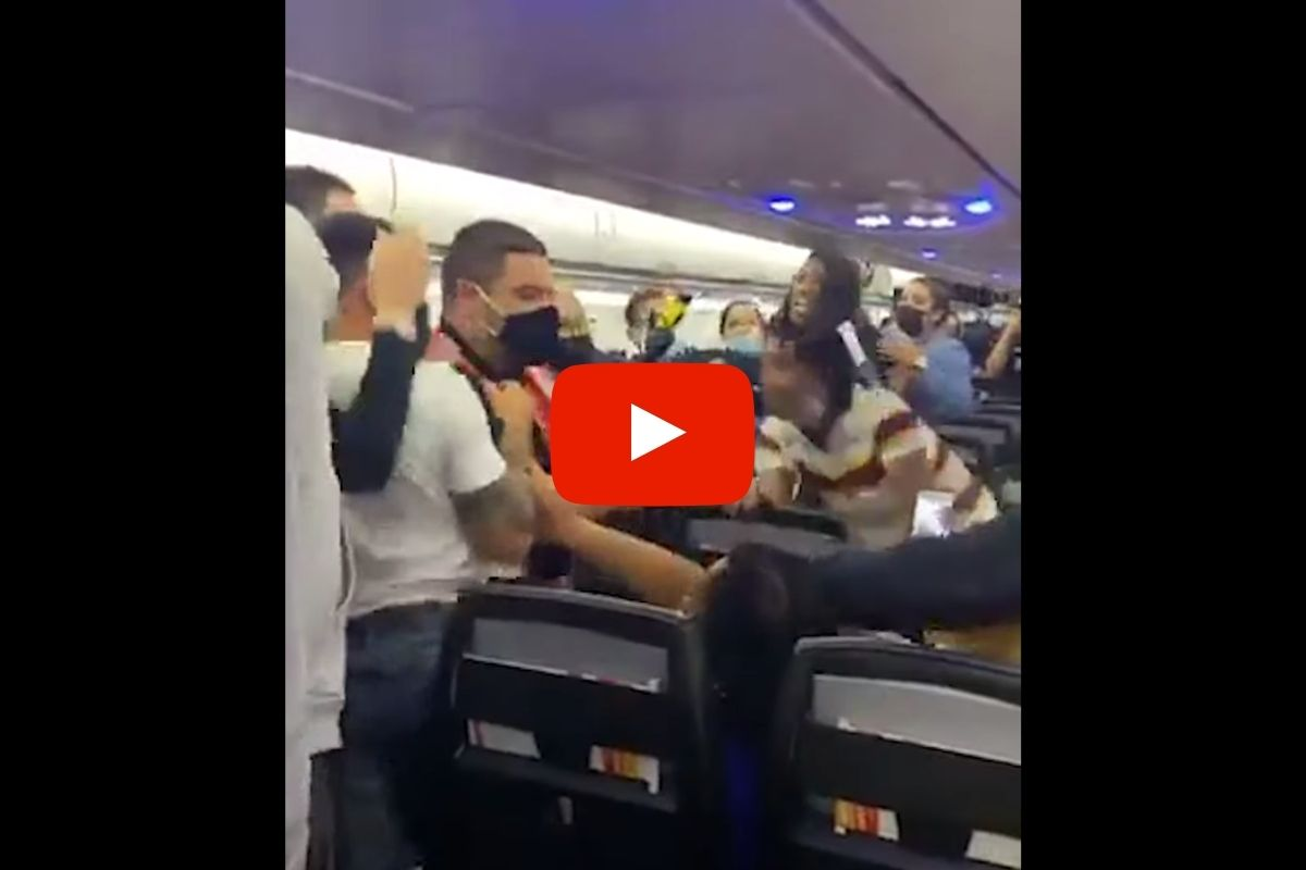 Woman Tased on Flight After Punching a Man Who Refused to Wear a Mask