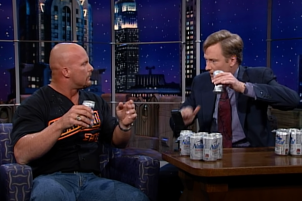 Relive the Time Stone Cold Taught Conan How to Chug a Beer