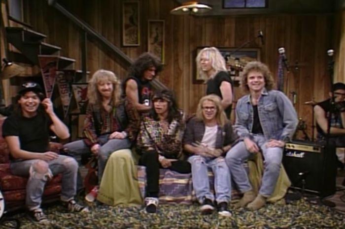 "Wayne's World and Aerosmith Jam Together on ""Saturday Night Live"""