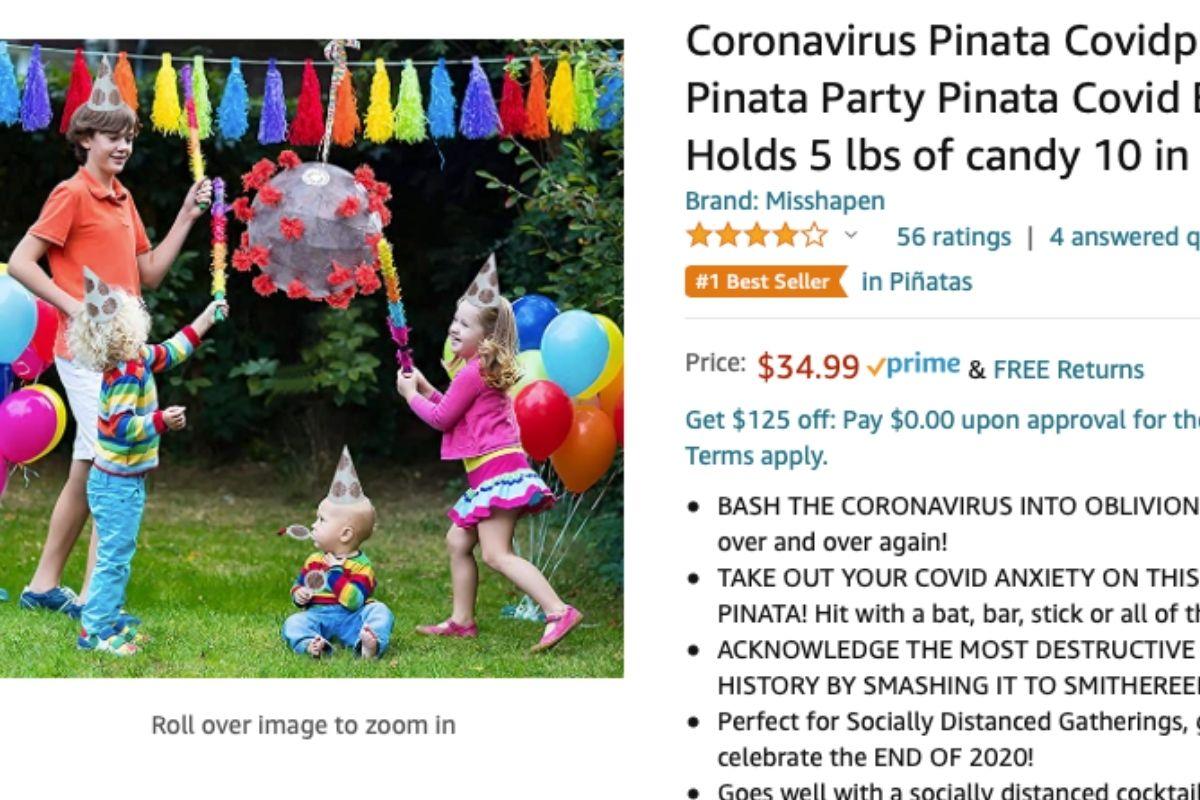coronavirus piñata