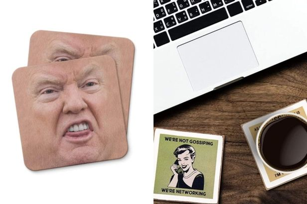 8 Funny Drink Coasters Your Guests Will Love Using