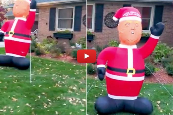 Donald Trump Christmas Inflatables Are Coming to Town