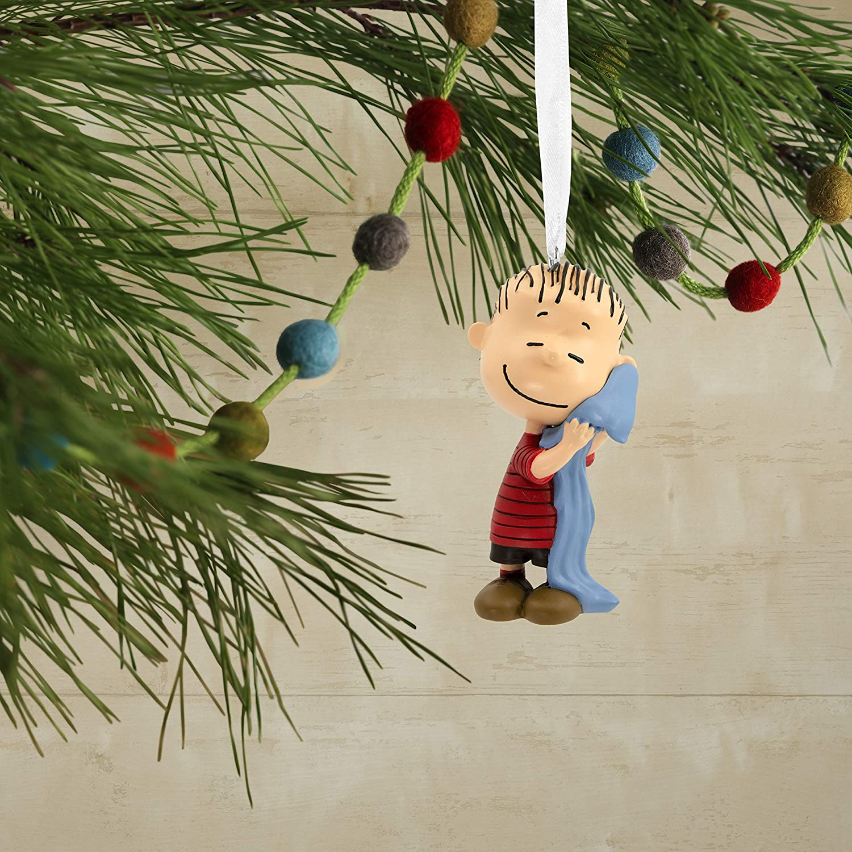 Hallmark Christmas Ornaments, Peanuts Linus Hugging Blanket Ornament