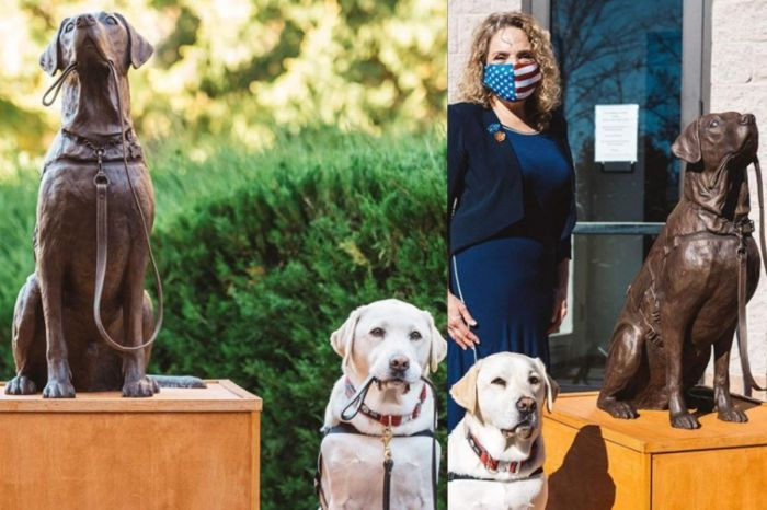 "George H.W. Bush's Former Service Dog ""Sully"" Gets Bronze Statue"