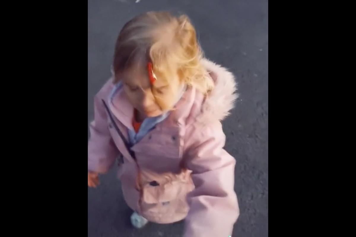 Little Girl Cries After Race