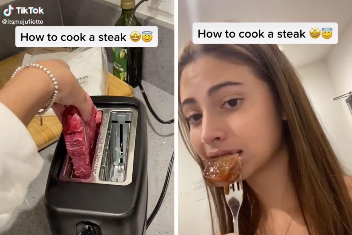 Teenager Horrifies the Internet by Cooking Steak in Toaster