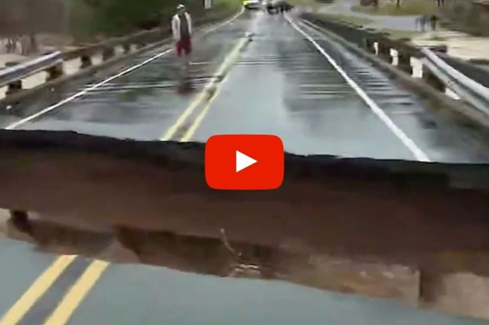 Bridge Collapses Live on Air as Reporter Stands Feet Away