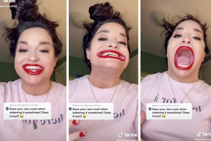 The Internet is Obsessed With This Woman's HUGE Mouth