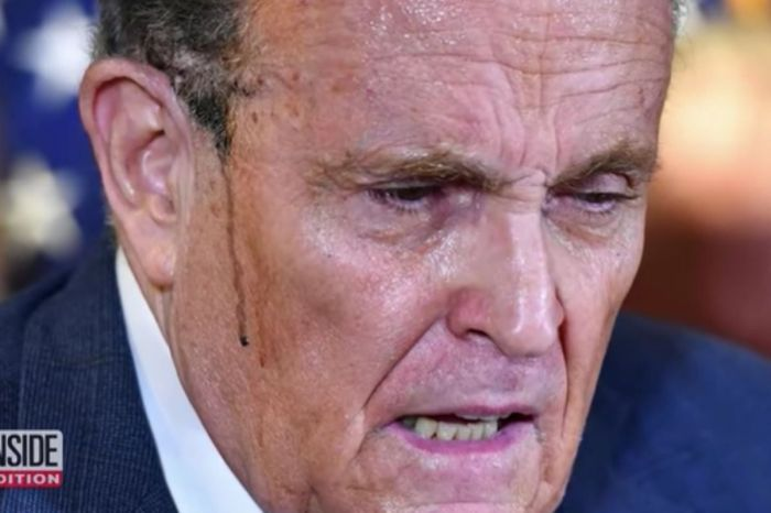 Rudy Giuliani's Hair Dye Runs Down The Sides of His Face During Press Conference