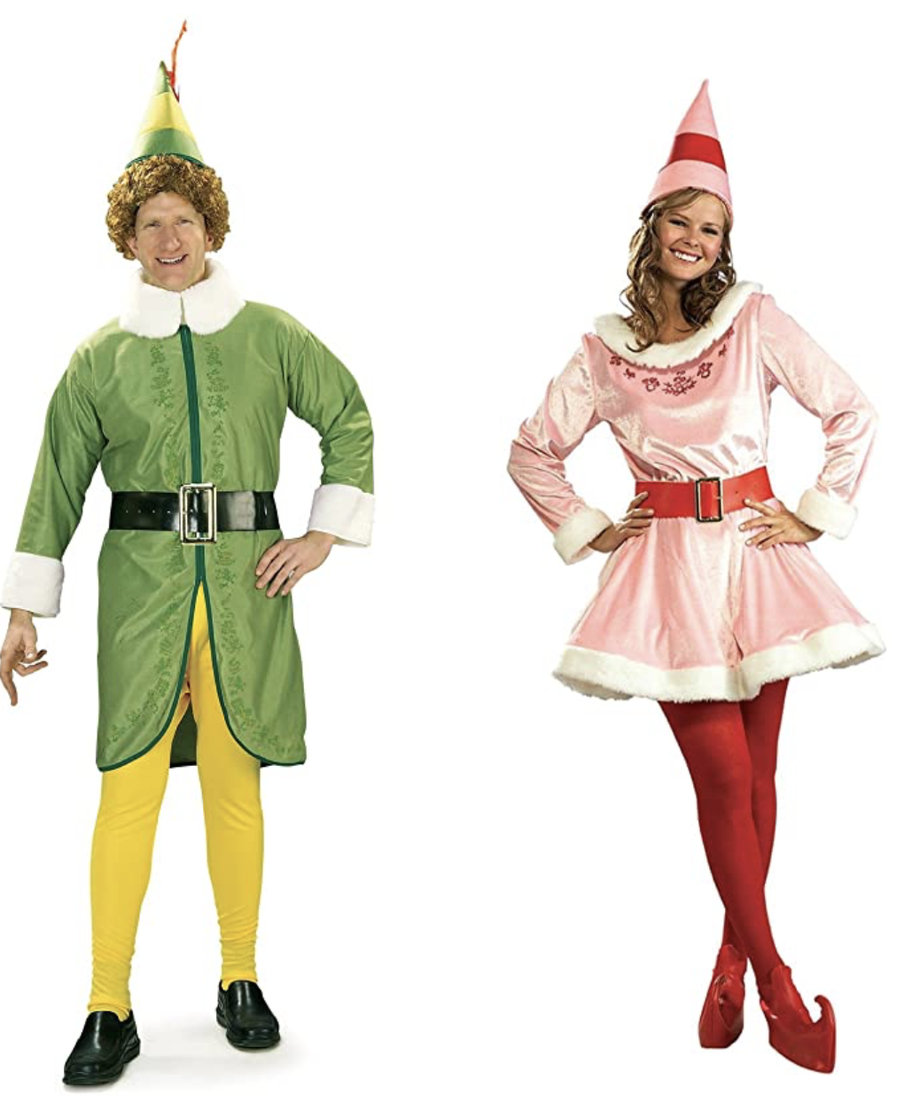 Buddy the Elf (STD) and Jovi Couples Costume Bundle Set