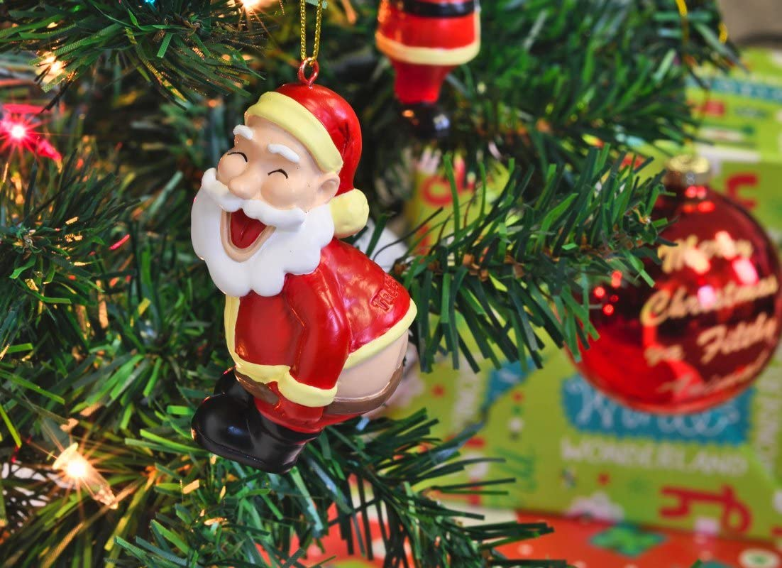 Tree Buddees Funny Mooning Santa Claus Christmas Tree Ornament