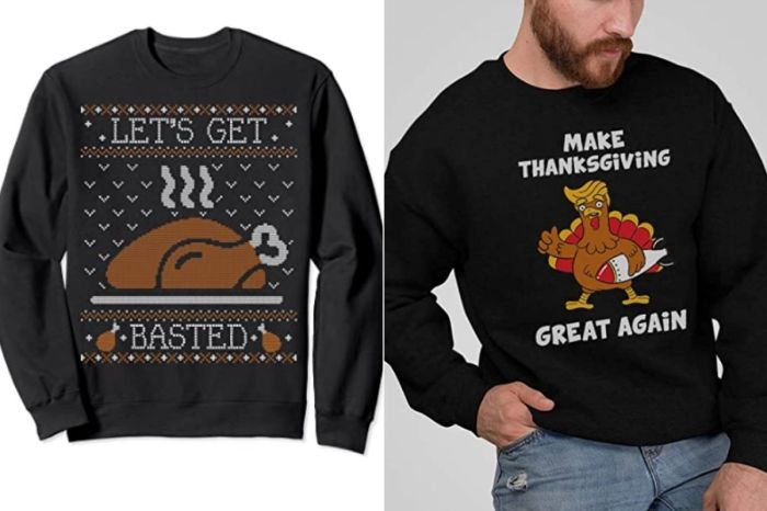 These Ugly Thanksgiving Sweaters Are Funny (And Will Hide Bloated Bellies)