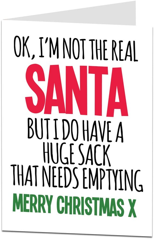 LimaLima Funny Rude Christmas Card for Her Perfect for Wife Or Girlfriend Naughty Happy Holiday's Greeting