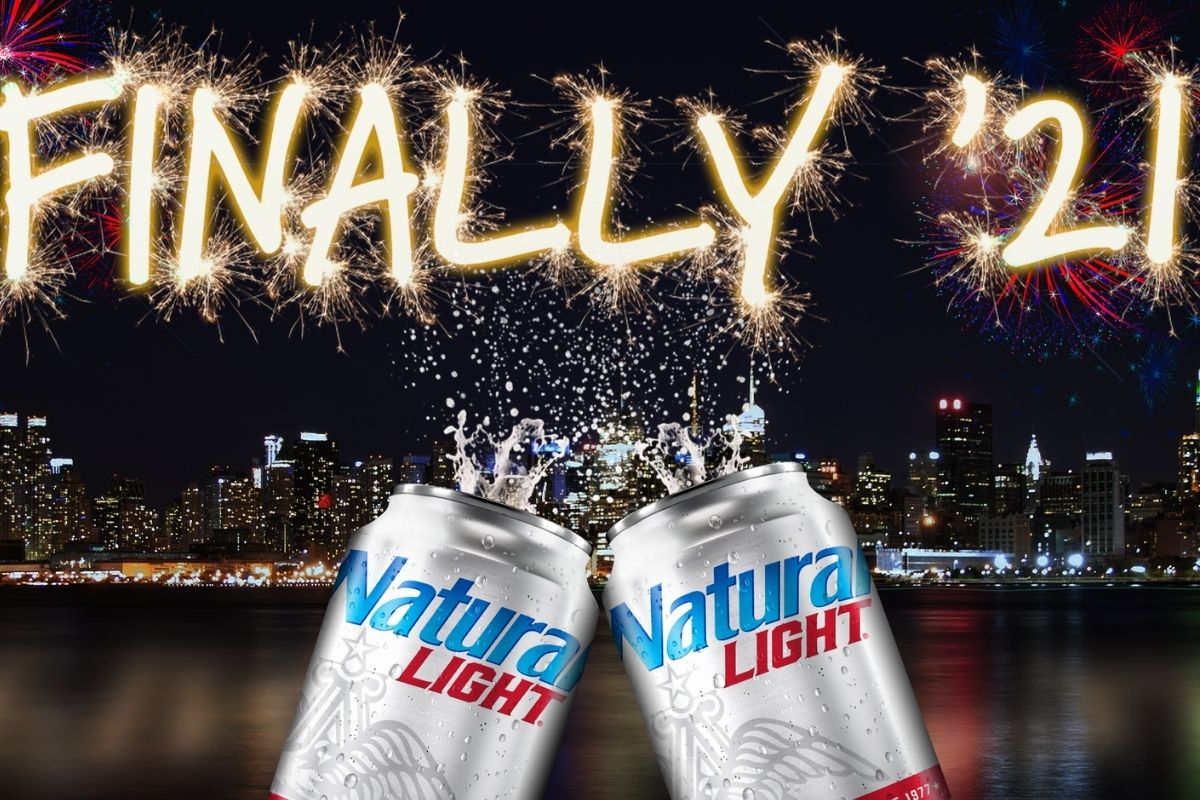 'Finally '21!': Natty Light Celebrates End of 2020 by Giving Away 2,021 Cases of Beer!
