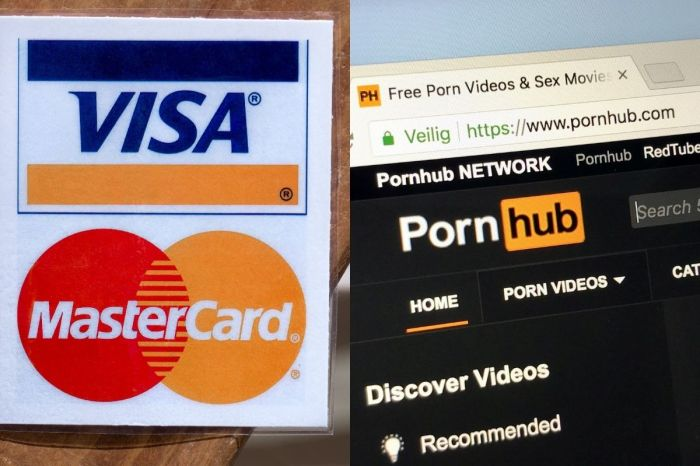 Visa And Mastercard Block Credit Card Use On Pornhub After Allegations of Child Sexual Abuse Material