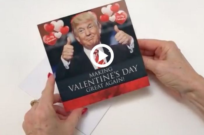 This Talking Donald Trump Card Will Make Valentine's Day Great Again