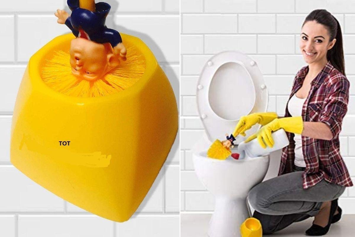 donald trump toilet brush