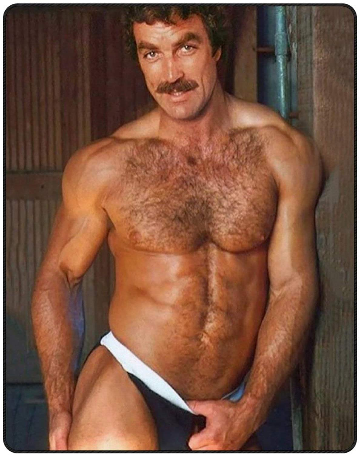 316 Tom Selleck Blanket Soft Cozy Throw Blankets for Couch Bed50''×60''