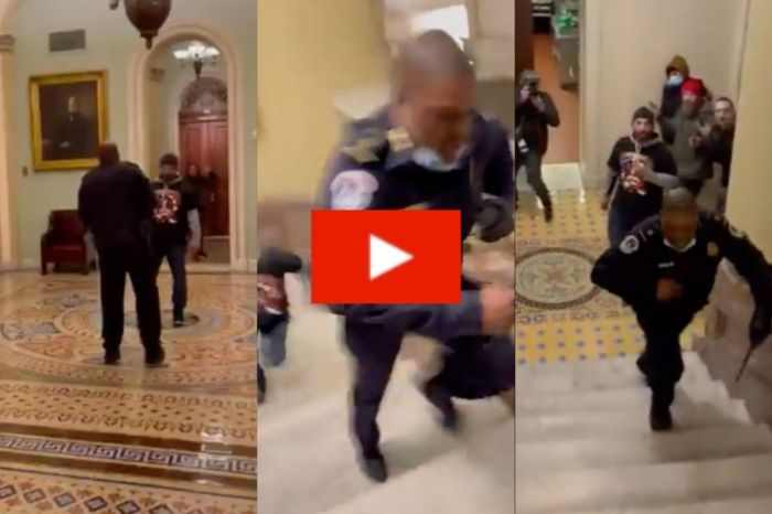 Capitol Police Officer Tricked Rioters By Leading Them Away From Senate Chamber