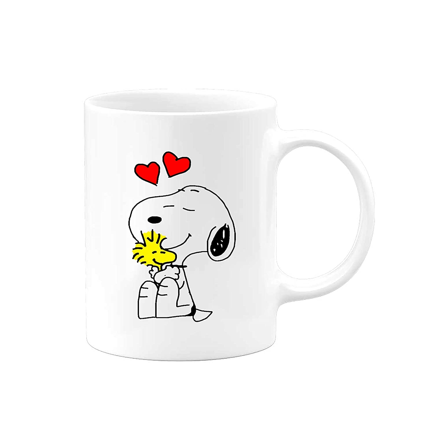 Charlie Brown Peanuts Snoopy and Woodstock Love Coffee Mug | 11 ounce cup | Serenity Home Goods | Cute Gift