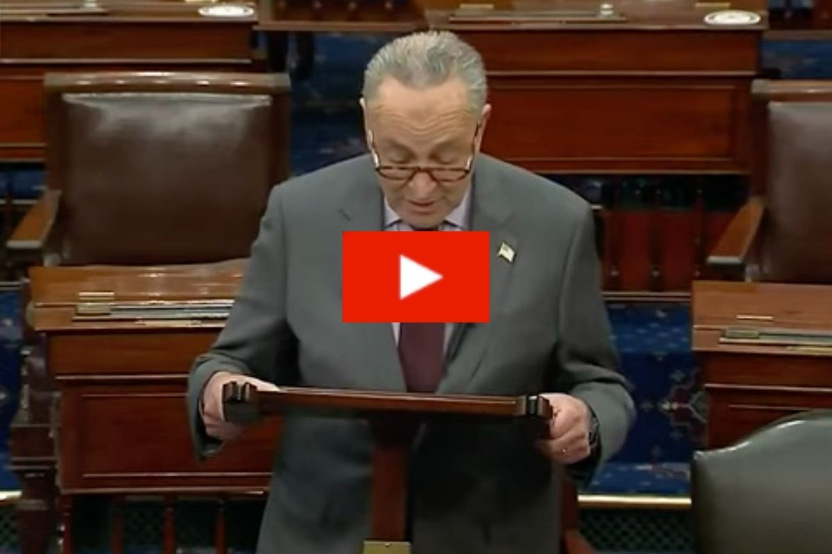 "Chuck Schumer Accidentally Said Trump Incited the ""Erection"""