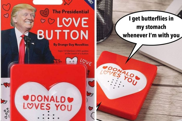 This $20 Talking Trump Love Button Says 15 Romantic Quotes