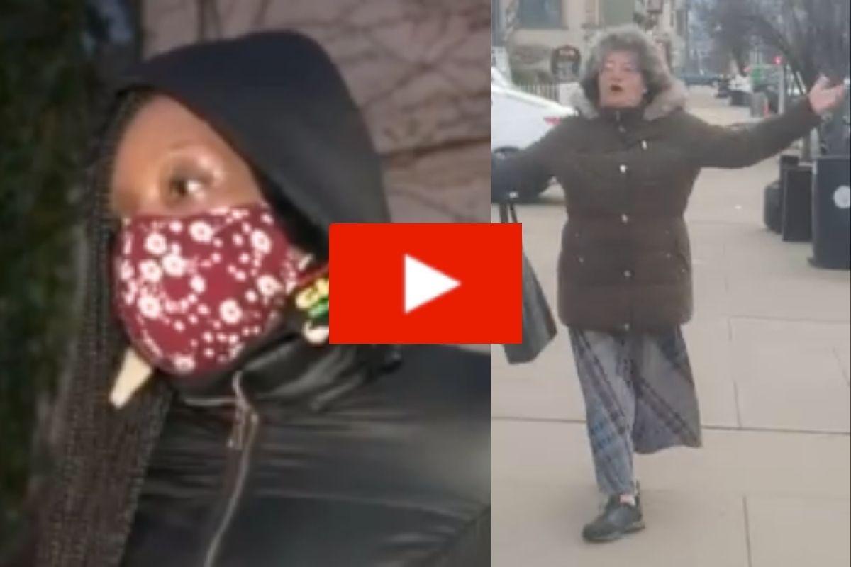 WATCH: Elderly Woman Arrested For Hurling Racial Slurs At Victim