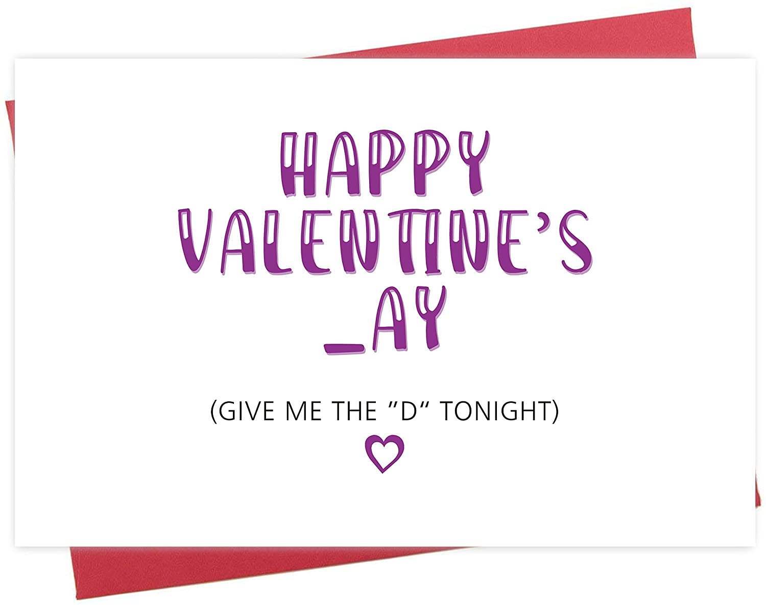 Funny Valentine's Day Card, Give Me The D Tonight, Cheeky Greeting Card for Him Boyfriend