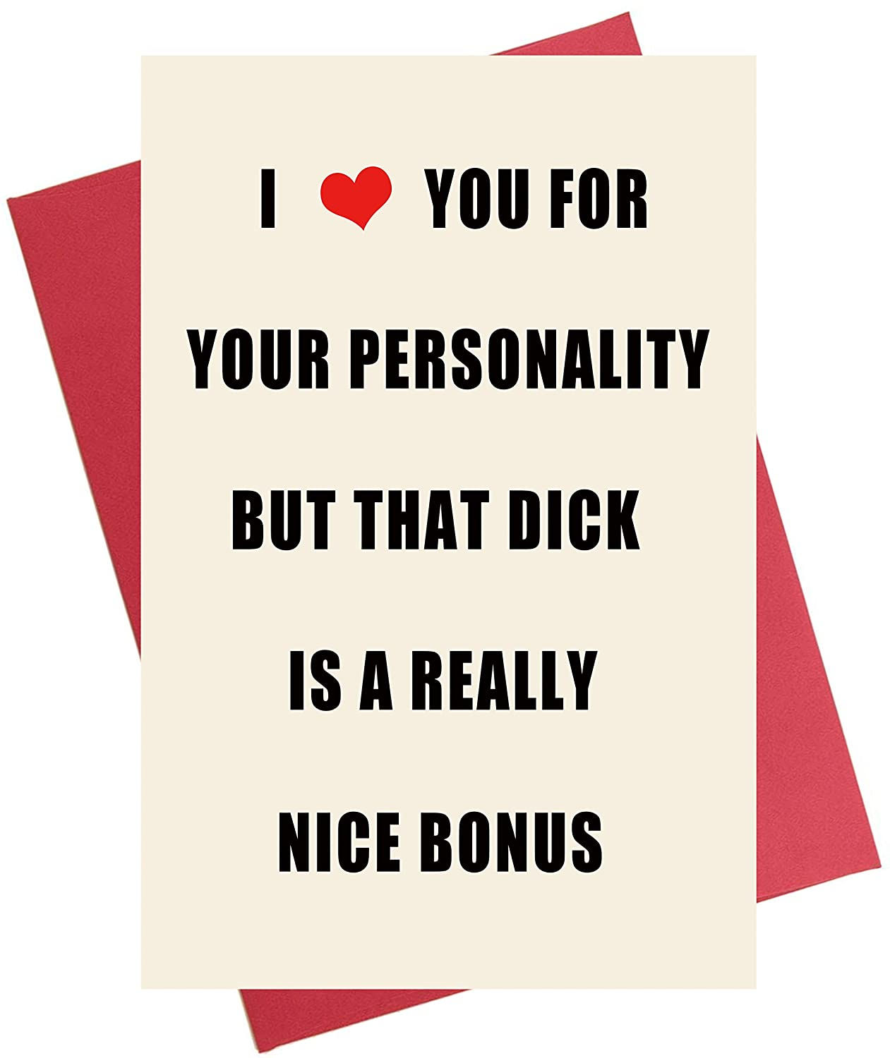 Naughty Anniversary Card | Rude Funny Birthday Card for Boyfriend, Husband, Him, Fiance