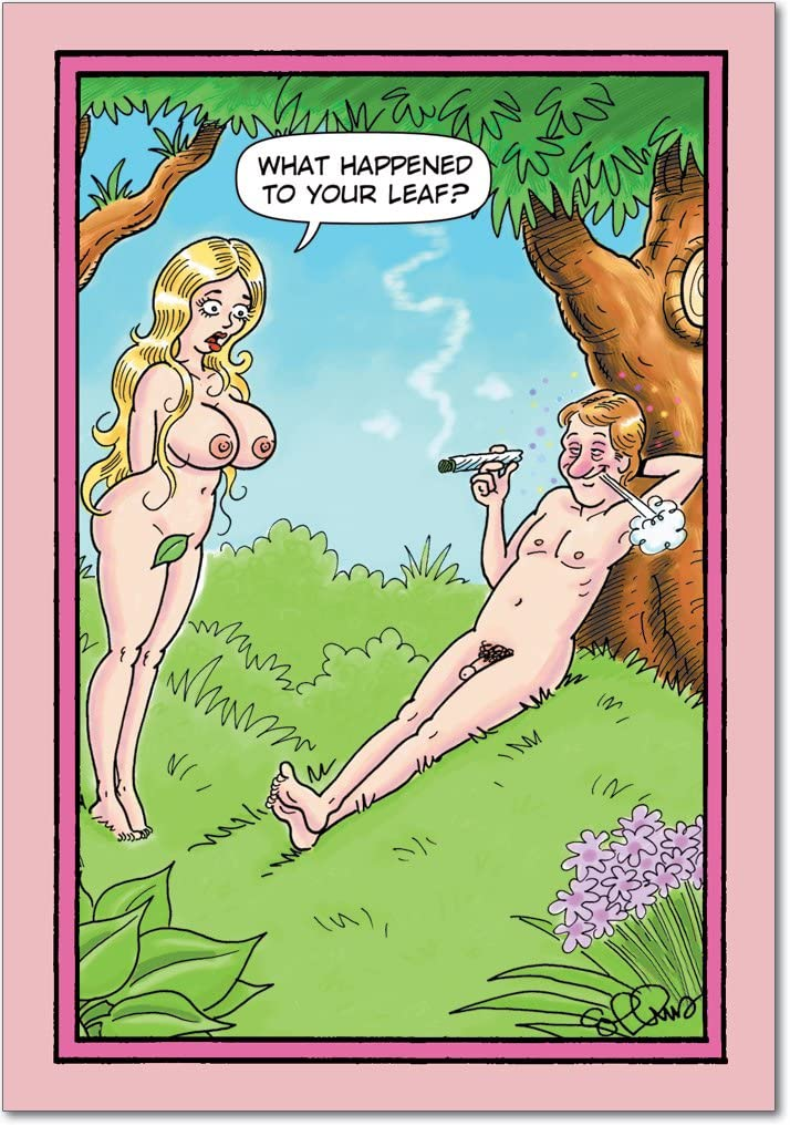 NobleWorks, What Happened to Leaf - Funny Adult Valentine's Day Card - Naughty, Sexy Love Card with Envelope 2007