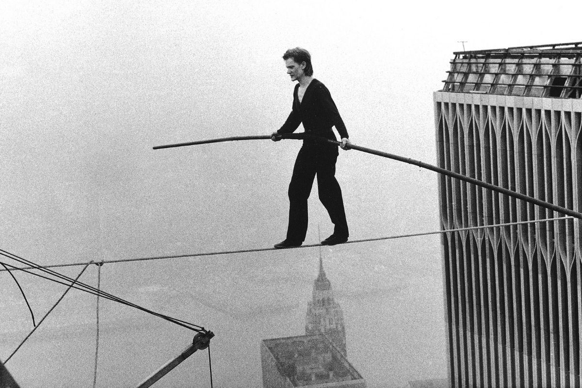 Behind Philippe Petit's Iconic 1974 Tightrope Walk Across The World Trade Center