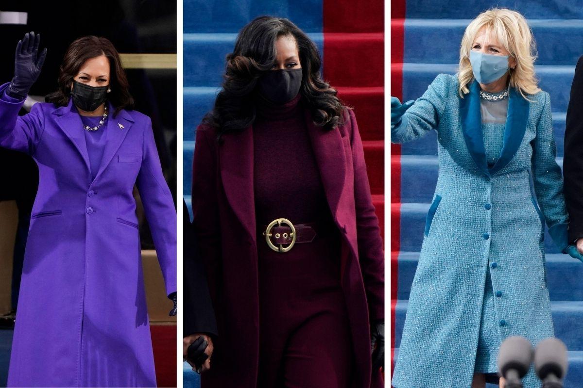 Kamala Harris, Michelle Obama and Dr. Jill Biden Serve Vibrant Looks on Inauguration Day