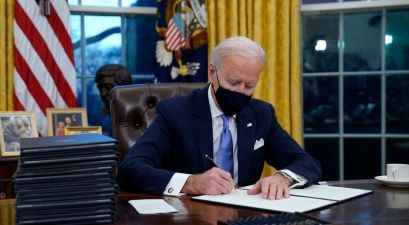 President Joe Biden Signs Executive Actions To Tackle Immigration, COVID, and More
