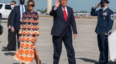 Melania Hilariously Leaves Donald Trump and Walks Away During Last Photo Op