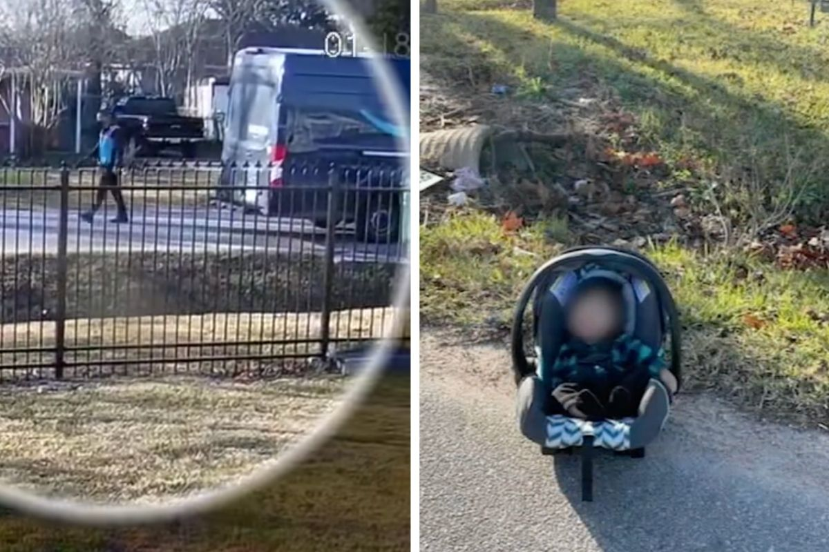 Amazon Driver Finds Newborn Baby Abandoned on the Side of the Road