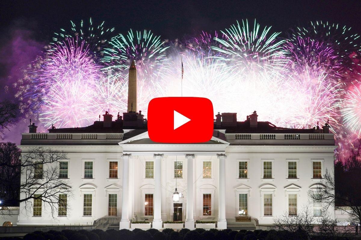 The Fireworks Display After Joe Biden's Inauguration Lit Up Washington D.C.