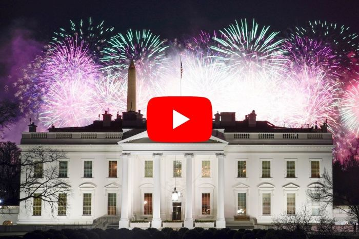 The Fireworks Display After Joe Biden's Inauguration Lit Up Washington D.C.
