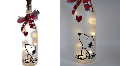 snoopy wine bottle