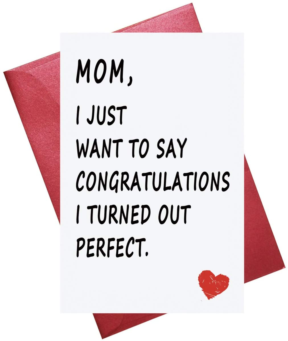 Funny Mother's Day Card, Mothers Day Card, Funny Birthday Card for Mom