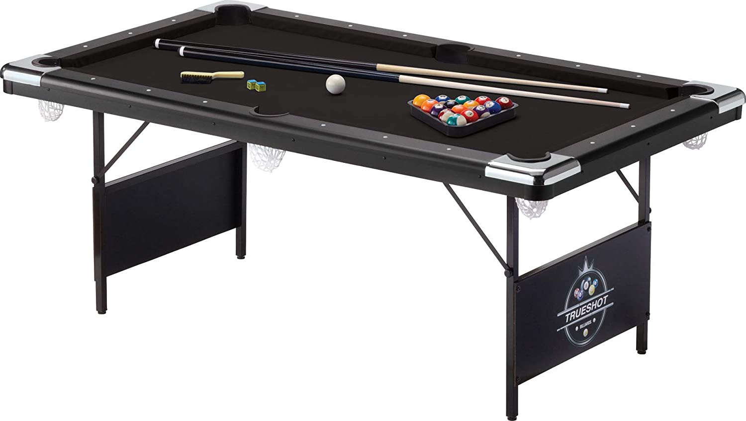 GLD Products Fat Cat Trueshot 6 Ft. Pool Table | Folding Legs for Storage | 64-6035 model