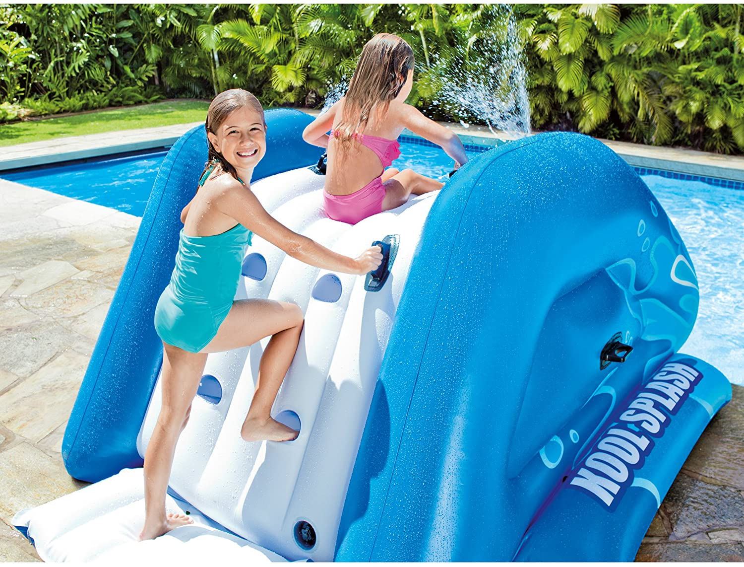 "Intex Water Slide, Inflatable Play Center, 131"" X 81"" X 46"", for Ages 6 and up"