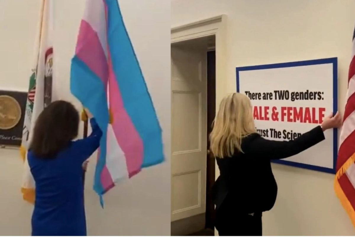 Rep. Marjorie Taylor Greene Mocks Colleague's Transgender Flag