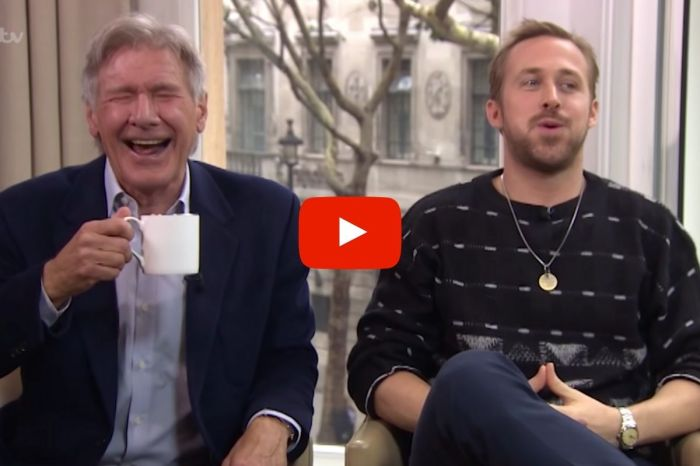 Watch Harrison Ford and Ryan Gosling Cry-Laugh During Hilarious Interview