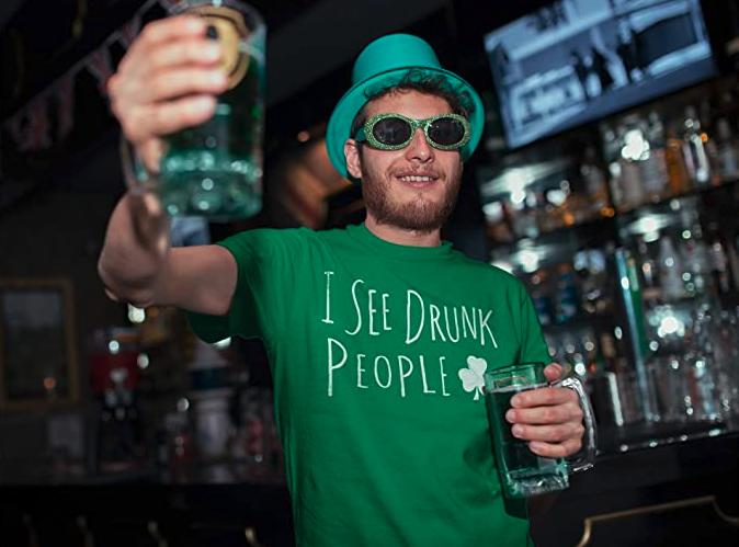 Funny St Patricks Day Shirt for Men - I See Drunk People