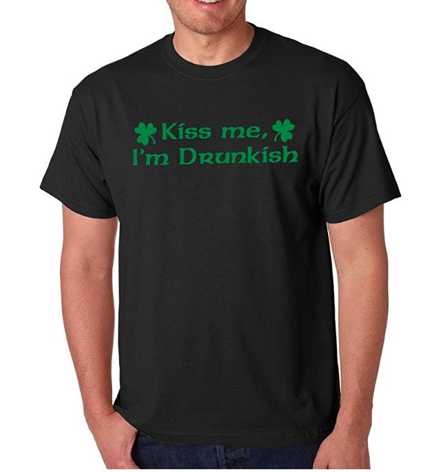 SignatureTshirts Men's Irish St Patricks Day Kiss Me I'm Drunkish T-Shirt