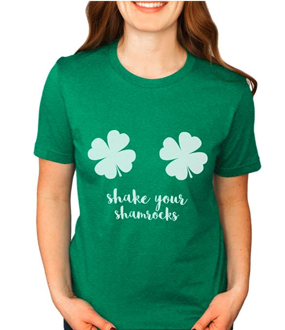 Asher's Apparel Shake Your Shamrocks Shirt/St Patricks Day Funny Shirt | Unisex Sizing