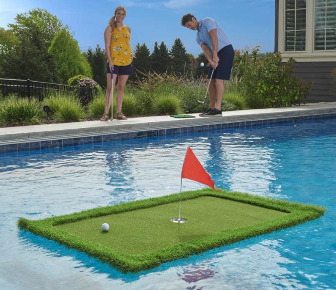 floating golf green