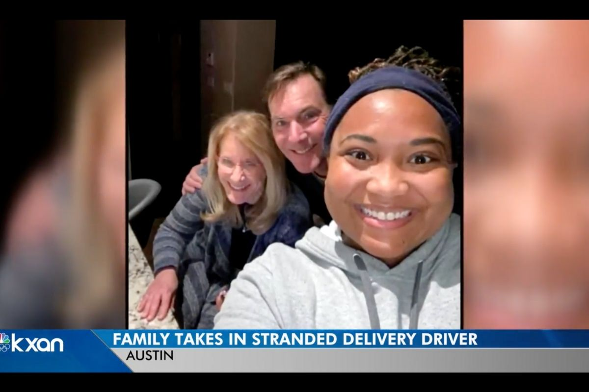 Austin Couple Takes in Their Food Delivery Driver During Severe Winter Storm